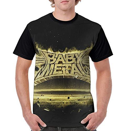 BOKAIKAI1603 Cool Combination Babymetal KiSS Death Unisex Adult Men O Collar Cartoon Short Sleeved T Shirt Women Tee Tops Personality Undershirt