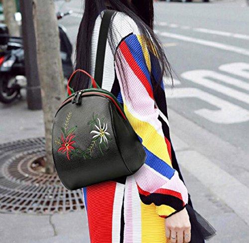 RAN Frau Stickerei Umhängetasche Einfache Urlaubsreisen Rucksack