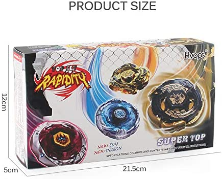 CLeternal Metal Master Fusion Storm Drago with 4D Launcher Grip Gyro Top Set 4 in 1