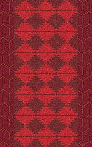 (Surya Jewel Tone JTII-2069 Hand Woven Wool Southwest Accent Rug, 2-Feet by 3-Feet)
