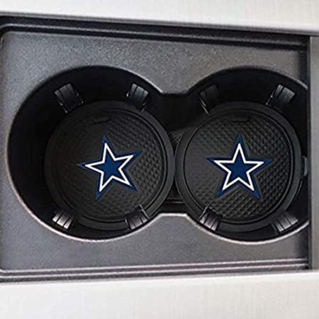 Fujun Upgraded 2 Pcs 2.75 inch for Oakland Raiders Car Interior Accessories Anti Slip Cup Mat for All Vehicles(Oakland Raiders)