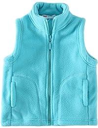 Kids' Fleece Vests Zipper Solid for 2-8 Years Old