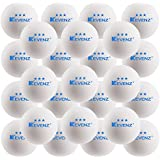 KEVENZ 50-Pack 3-Star Plus 40mm Orange Table Tennis Balls,Advanced Training Ping Pong Balls (White,50-Pack)