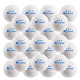 KEVENZ 50-Pack 3-Star Plus 40mm Orange Table Tennis Balls,Advanced Training Ping Pong Balls (White,50-Pack)