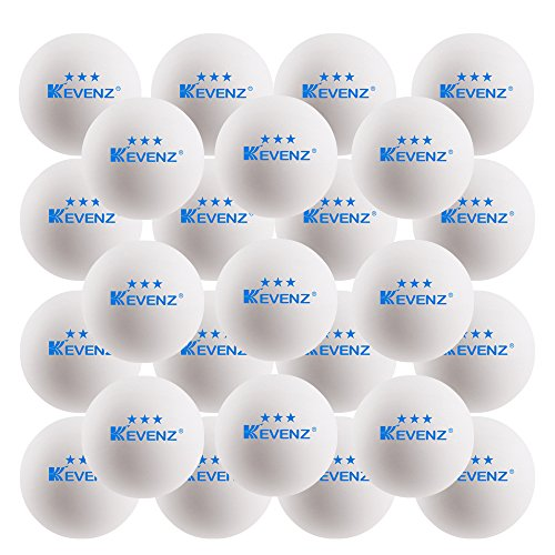 KEVENZ 50-Pack 3-Star Plus 40mm Orange Table Tennis Balls,Advanced Training Ping Pong Balls (White,50-Pack) (A1: White, 50-Pack, 40mm, Celluloid)