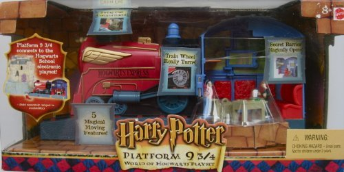 Harry Potter Platform 9-3/4 Playset ~ Hogwarts Express Train