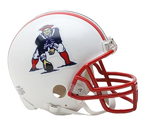 e3e62029030 Amazon.com  New England Patriots 1990-1992 Throwback Riddell Mini Football  Helmet - New in Riddell Box  Sports Collectibles