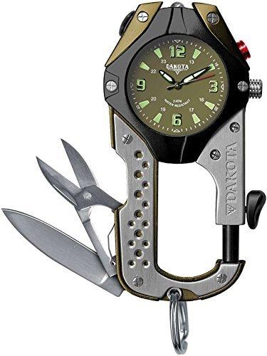 Dakota Watch Stainless Steel Knife Clip - Moss