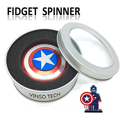 VINSO TECH Fidget Spinner, Hand Spinner Fidget Toy High Speed Stainless Steel Bearing Helps Focusing for Anxiety Stress Reducer Relieves ADHD ADD Autism Adult or Children