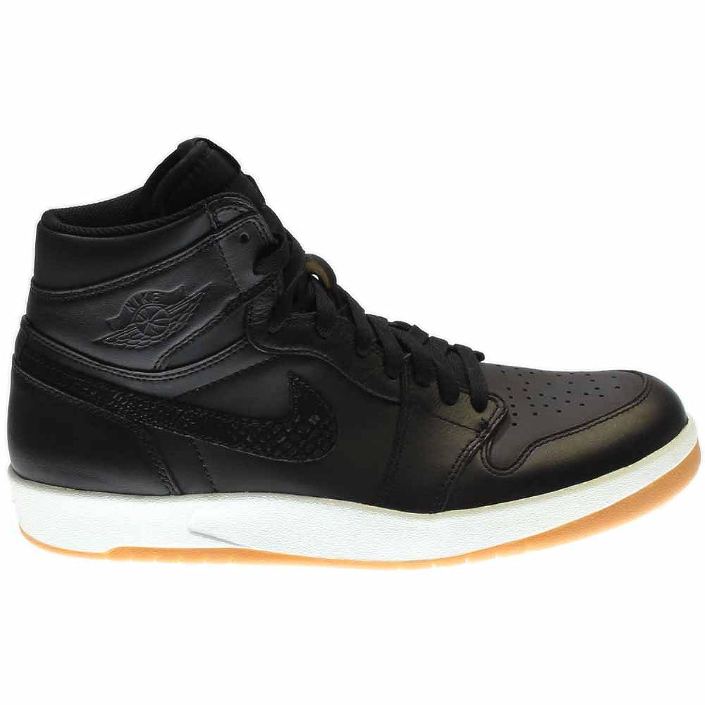 Amazon.com | Nike Mens Air Jordan 1 High The Return Black/Militia  Green-White Leather Size 9.5 | Basketball