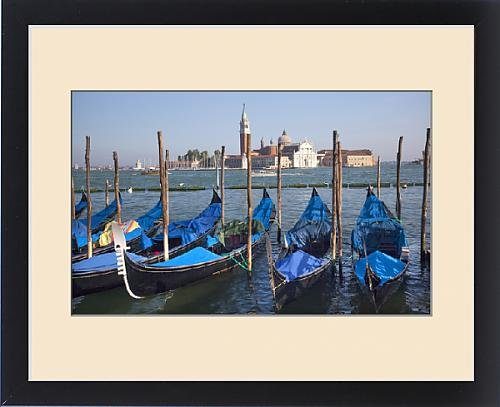 Framed Print of San Giorgio Maggiore Church and Bell Tower Blue Gondolas Grand Canal Venice by Fine Art Storehouse