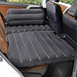 STAZSX Can sit reclining car inflatable bed car bed car travel bed car bed suv rear seat mattress, flocking black-135x78CM