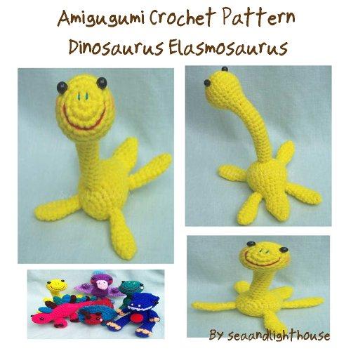 Little Dinosaur Elasmosaurus Amigurumi crochet pattern