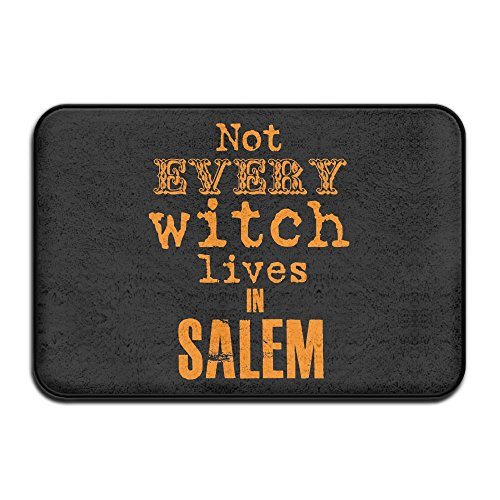 YS25 Bathroom Rug Mat Contour Rug Toilet Floor Rug Flannel Bath Shower Mat Not Every Witch Lives in Salem Square Carpet