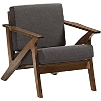 Baxton Studio Cayla Lounge Chair in Gray