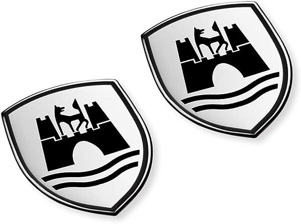 Volkswagen 5c0064317asxrw Dekorfolien Set Wolfsburg Wappen Emblem Satinschwarz Chromglanz Auto