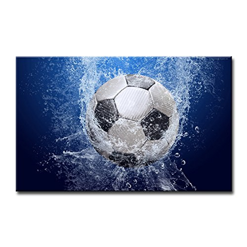 Soccer Oil Painting - So Crazy Art Blue Wall Art Painting Soccer In Water Pictures Prints On Canvas Abstract The Picture Decor Oil For Home Modern Decoration Print