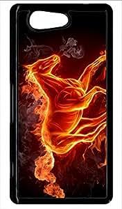 Carcasa Xperia Z4Compact caballo en fuego