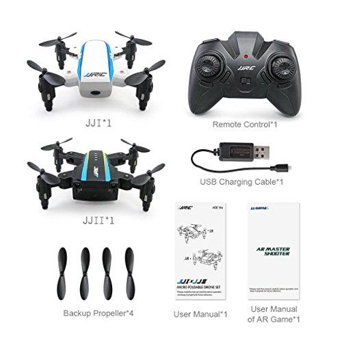 Appoi New Arrival JJRC H345 Dual-Aircraft Combination Micro Foldable Drone Quadcopter Set AR Game White Black (As Shown) by Appoi
