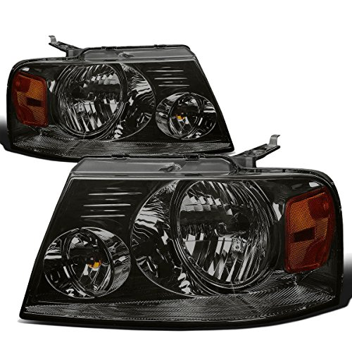 DNA MOTORING HL-OH-F1504-SM-AM Headlight Assembly (Ford Grille Chrome F-150)