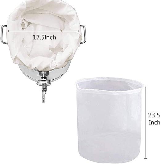 KE/_ 5pcs 7 Size Brew Mesh Bag w// String Food Grade Wine Beer HomeBrew Bucket F