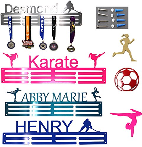 Gold Karate Girl - SanDiegoMake Personalized Steel Medal Hanger 20