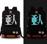 Relaxcos Demi-human Ajin Logo Black Luminous Bag SchoolBag