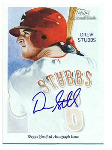2010 Topps National Chicle Drew Stubbs Autographed Auto Rookie Card RC #NCA-DST - Mint - Baseball Card