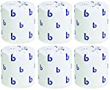 Boardwalk 6180 Two-Ply Toilet Tissue, White, 4 1/2 x 3 Sheet, 500 Sheets Per Roll (6 Cases of 96 Rolls)