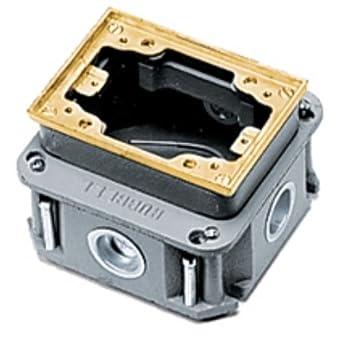 Hubbell Wiring Systems Ba2436 Cast Iron 1 Gang Deep Flush