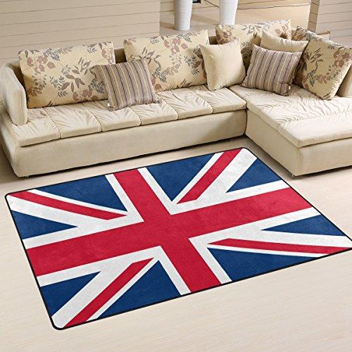 - WOZO British Flag Union Jack Area Rug Rugs Non-Slip Floor Mat Doormats for Living Room Bedroom 60 x 39 inches