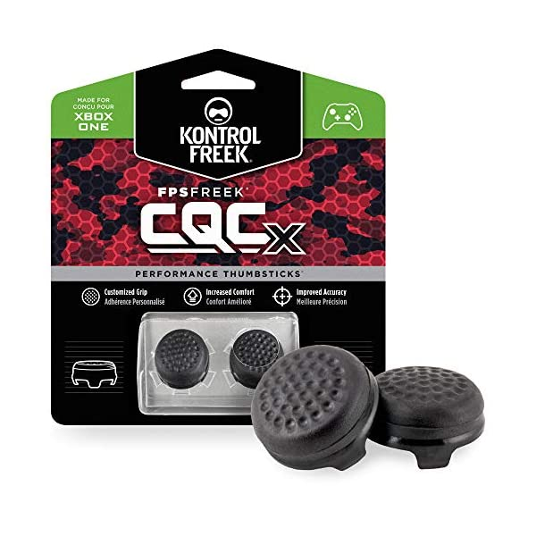 KontrolFreek CQCX Thumb Grips for Xbox One and Xbox Series X Controller | 2 Mid-Rise Convex Performance Thumbsticks… 1