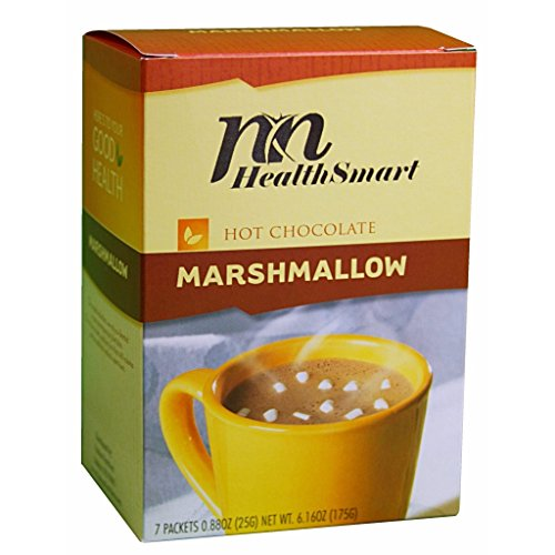 HealthSmart - High Protein Diet Hot Chocolate - Classic with Marshmallows - Instant Weight Loss Hot Cocoa Mix - 15g Protein - Low Sugar - Low Carb - Low Calorie - Aspartame Free (7/Box) - Marshmallow Chocolate Sugar