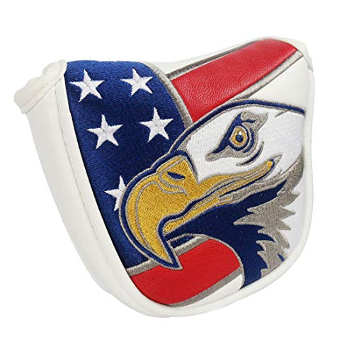 PINMEI America USA Eagle Mallet Putter Covers Putter Headcover Perfect for Callway Taylormade Scotty Titleist Ping (Eagle)
