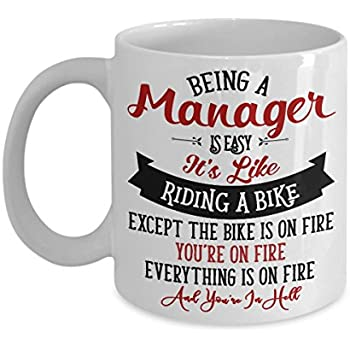Amazon.com: Being A Manager Is Easy It's Like Riding A Bike ...