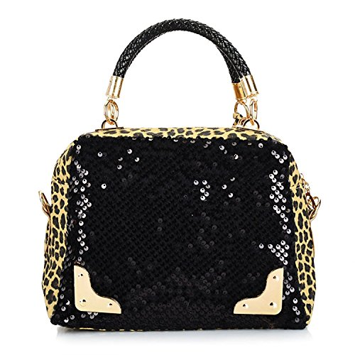 Best Seller! 2013 Casual Women's Handbag Leopard Print Paillette Bag Shoulder Bag Handbag Messenger Bag Women's Handbag