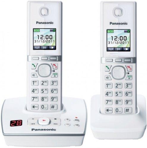 Panasonic KX-TG 8062 EW Cordless Phone, 2 Handsets (White)