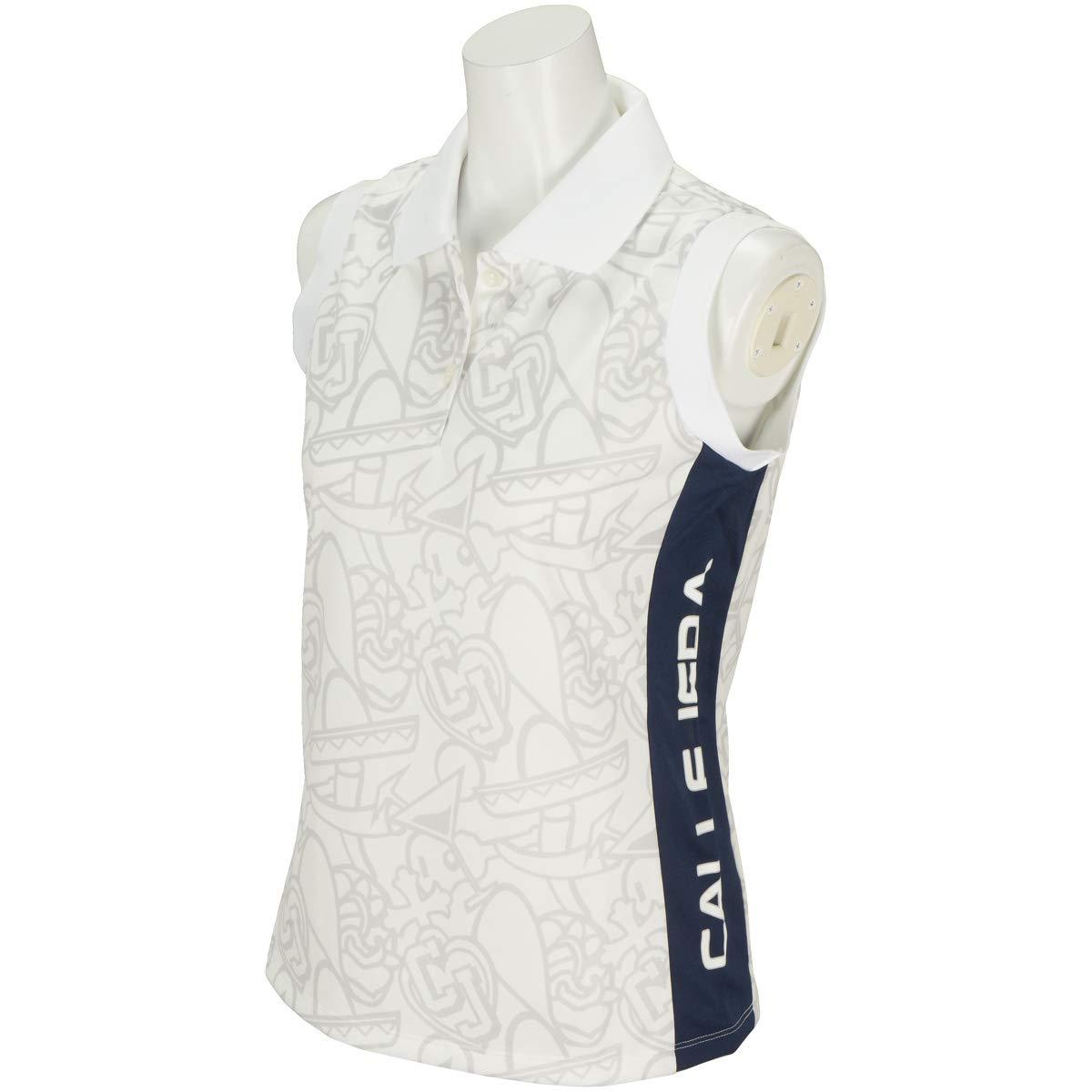 カジェヘラ CALLEJERA 半袖シャツポロシャツ SABOTEN PTN ノースリーブ ポロシャツ レディス 1 ホワイト B07SYLR6YB