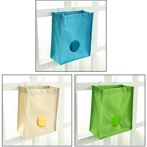 MEGOOD 3Pcs Oxford Hanging Organizer Litter Storage Bag,Collection Bag for Home Kitchen Bathroom (Over Collection Oxford)