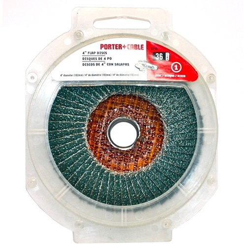 UPC 039404128638, PORTER-CABLE 53168 4-Inch 36 Grit Flap Disc