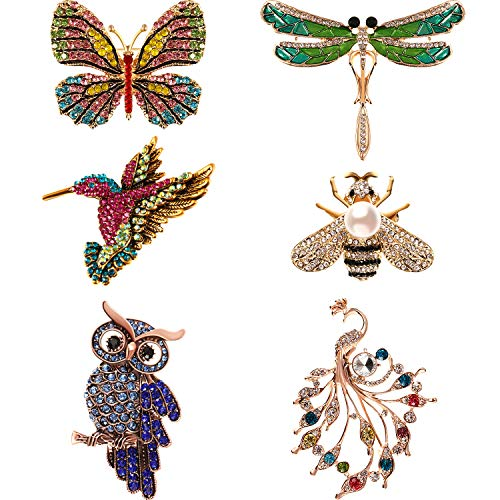 Hicarer 6 Pieces Women Brooch Se...