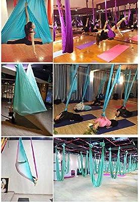 SHPEHP 5M Yoga Hombre aéreo Air Yoga Hamaca Yoga Pilates Air Set ...