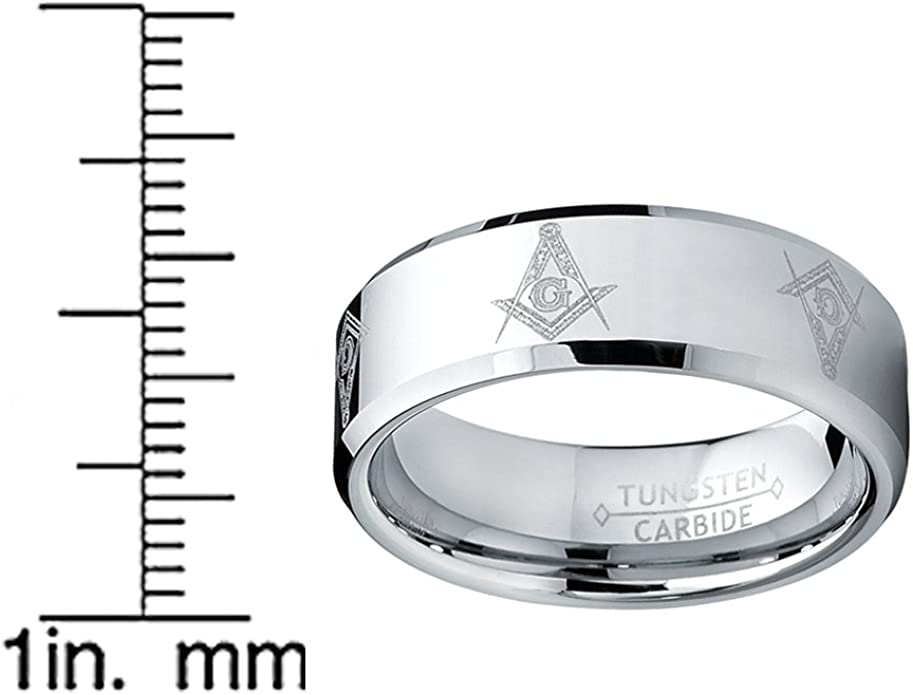 Maconnerie Ultimate Metals Co 8MM Bague Tungstene Franc