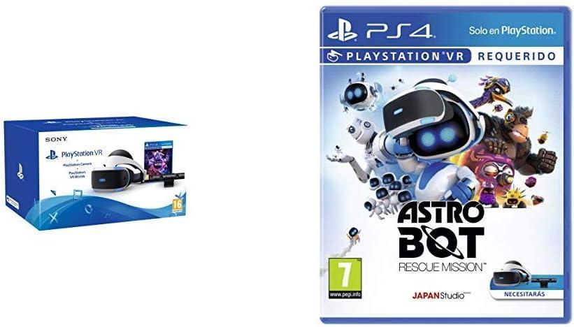 Sony - PlayStation VR Casco De Realidad Virtual Mk4/SPA + VR Worlds + Cámara (PS4) + AstroBot: Rescue Mission - Edición Estándar: Amazon.es: Videojuegos