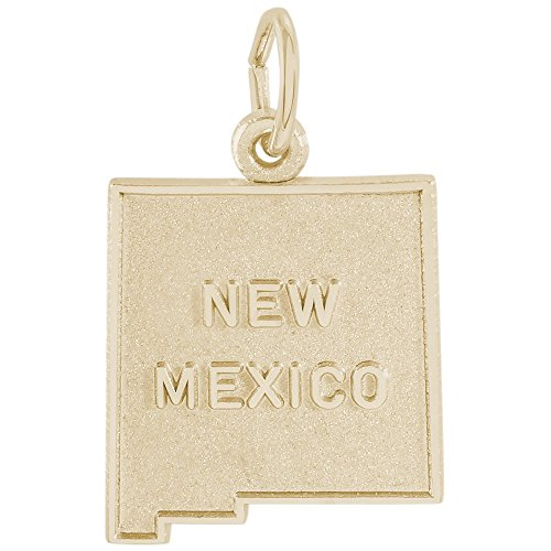 Rembrandt Charms, New Mexico, 14k Yellow Gold, Engravable 14k Yellow Gold Santa