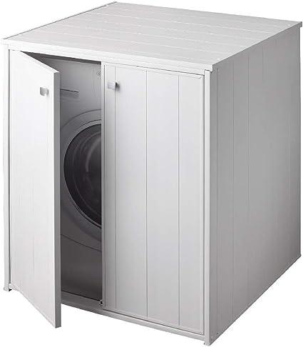 negrari xxl meuble machine laver seche linge grand hublot kit montage buanderie salle bain interieur exterieu portes battantes patins resistant