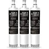 AQUACREST Replacement 4396508 NSF 401,53&42 Refrigerator Water Filter, Compatible with 4396508 4396510, Filter 5, 46-9010, PUR W10186668, NLC240V (Pack of 3)