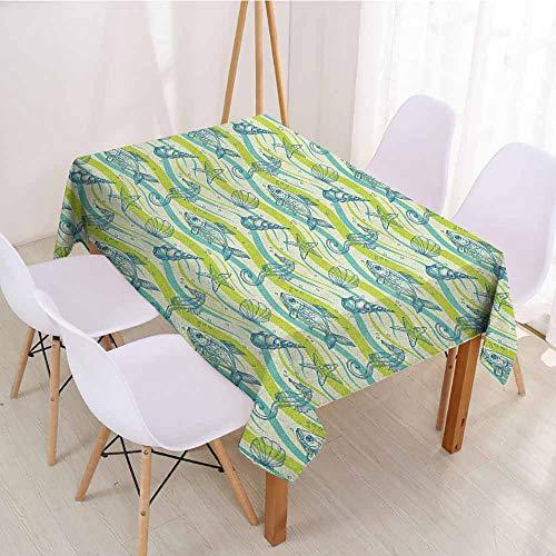(ScottDecor Rectangular Polyester Tablecloth Fabric Tablecloth W 70