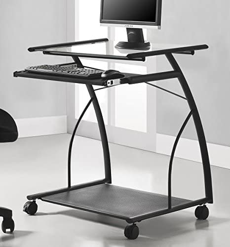 Ameriwood Home Sheldon Mobile Computer Desk, Black