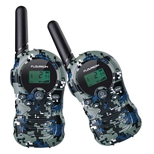 floureon Kids Walkie Talkies Two Way Radios 22 Channel 3000M (MAX 5000M Open Field) UHF Long Range Handheld Talkies Talky (Camouflage 2)